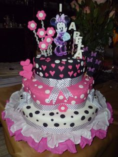 Torta de Minnie Mouse...