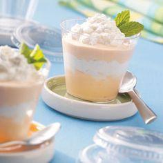Orange Dream Parfaits ~ made with orange sherbet, cream cheese & whipping cream...yum