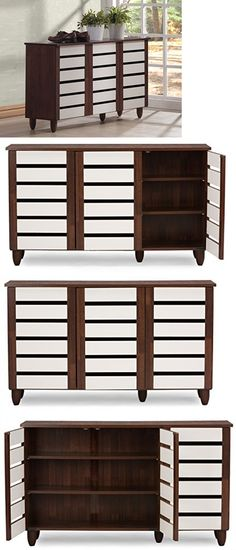 shoe organizers baxton studio 3 door wooden oak white entryway shoe storage cabinet home