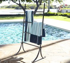 Pool Towel Storage Ideas find this pin and more on pool play house Bronze Pool Accessory Storage Bin Pottery Barn