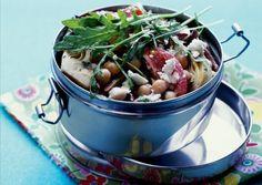 chickpea . artichoke heart . tomato salad with arugula ++ #glutenfree