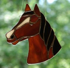 Stained Glass Horse by theglassmenagerie on Etsy