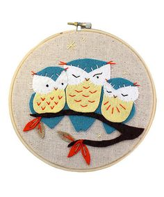 Look what I found on #zulily! Owl Hoop Kit #zulilyfinds