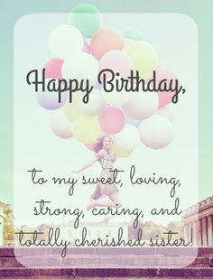 Happy Birthday, Sister.
