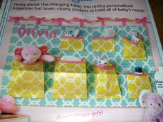 Baby shower gift - Wall organizer for baby stuff - from Woman's World 1/30/12
