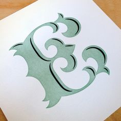 Image of 2nd Letterpressed E, Jessica Hische | I want a C & an E, or H & a B, for the apartment!