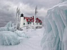 Lighthouse at Point Betsie, Michigan..