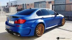 Frozen Blue BMW M5 with Prior Design's Widebody Kit Attracts the Ladies | I Love BMW