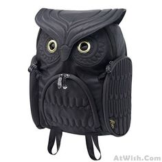Wow~ Awesome Fashion Street Cool Owl Shape Solid Computer Backpack School Bag…