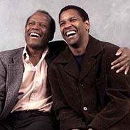 Sidney Poitier and Denzel Washington