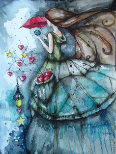 Купить Хранящая - разноцветный, dreamage, светлана аристова, девушка, волшебницы бывают разные, акварель, графика