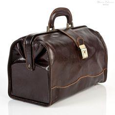 Alberto Bellucci Giotto Italian Leather Bag | Color Dark Brown | side view