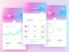 crypto wallet designed by uixNinja. Connect with them on Dribbble; the global community for designers and creative professionals. Mobile Ui Design, App Ui Design, Interface Design, Web Design, Graphic Design, Email Design, Site Design, Budget Planner App, App Design Inspiration