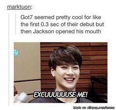 Rofl that's why Jackson is my bias | allkpop Meme Center