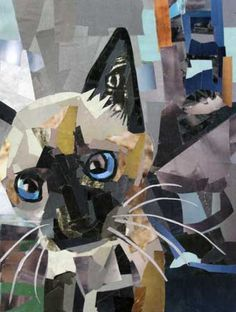 Megan Coyle: painting with paper magazine collage