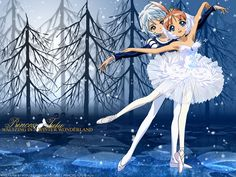 Mytho and Ahiru from the anime Princess Tutu