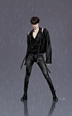 His LEGS!  Kai EXO