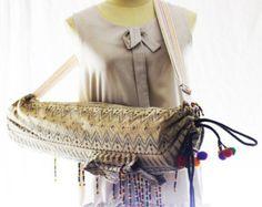 YOGA MAT BAG Yoga Bag Yoga Tote Yoga Bag Women (New line) Handmade Embroidered Pieces Of Tribal Costume.(047)