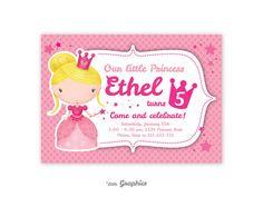 Invitacion Princesa editable por LittleGraphics en Etsy