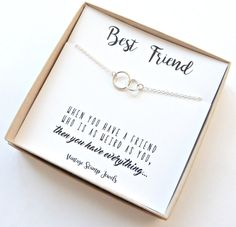 This Best Friends Necklace is the perfect gift for any friend! This listing is for 1 necklace. It is made from all sterling silver or Gold filled materials. It can be worn in the water and will not fade or taint your skin. **The Best Friend Box card shown in the first photo will be what this item is packaged in! If you do not want this card, please let me know in the notes section at check out.** Choose from different combinations of rings. You can choose to have each ring be different or…