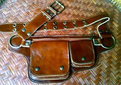 Leather Utility Belt The Hipster 3 by ThaiArtistCollective