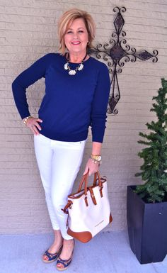 First day of Spring Smiles! http://www.over50feeling40.com #fashionoverfifty