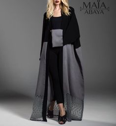 Muslimah Clothing, Modest Fashion Hijab, Abaya Fashion, Kimono Fashion, Fashion Dresses, Dubai Fashionista, Kaftan Designs, Mode Kimono, Middle Eastern Fashion
