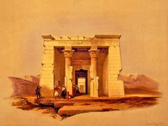 Dendour temple original painting by David Roberts