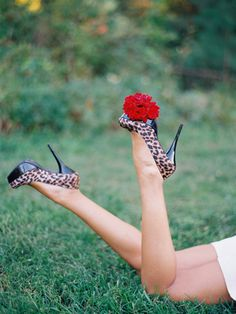 Pretty dahlia, sexy shoes, can't go wrong... @thebridescafe