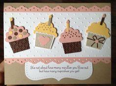Birthday Cupcake Card, Stampin Up paper
