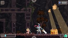 """Combo Queen System: iOS + Android Release: 2015 Developer: Tap My Game Pixel Artist: Phil Giarrusso Website: tapmygame.com Video: Trailer Description: """"Combo Queen is a fast-paced hack and slash action RPG hybrid runner. The game features a unique combo and parry system which involves precise timing and reaction based gameplay."""""""