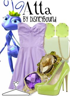 Disney Bound: Atta from Disney's A Bug's Life Disney Themed Outfits, Disney Bound Outfits, Cute Disney, Disney Style, Disney Inspired Fashion, Disney Fashion, Pretty Outfits, Cute Outfits, Character Inspired Outfits