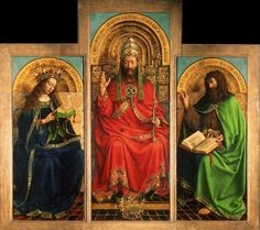 God, the Virgin Mary and St. John the Baptist, from the Ghent Altarpiece by Hubert and Jan van Eyck, 1432