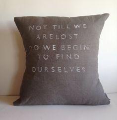 Inspirational Quote Pillow  Handmade Natural Linen by CasaAndCo, $45.00