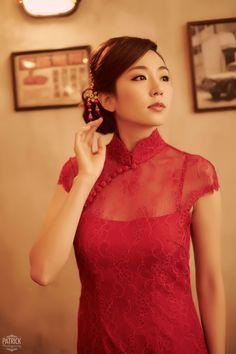 Qipao pron – Sexy Wedding Qipao Shown the pron of Bride