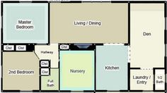 Often when you first buy a house or decide to remodel your home you need to evaluate the colors used throughout the house, which rooms you plan on painting, and what order to wish to paint. Using a floor plan with each room's wall color represented can help you get a feel for your current color scheme as well planning for future upgrades.