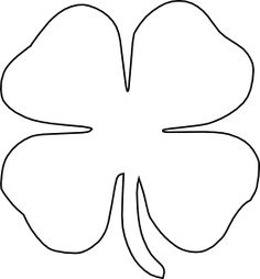 four leaf clover outline clip art - Four Leaf Clover Printable