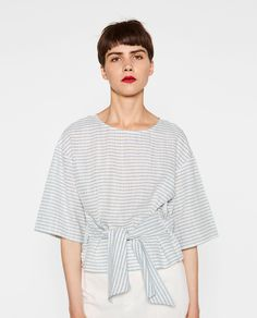 KIMONO WITH FRONT KNOT-View All-TOPS-WOMAN   ZARA United States