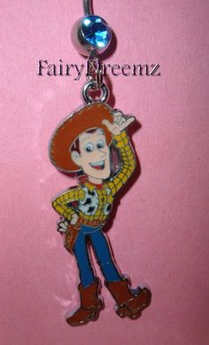 WOODY Full Body From Toy Story Disney Pixar Belly Navel Ring Body Jewelry