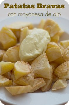#patatas #bravas is a dish native to Spain, often served as a #tapa in bars
