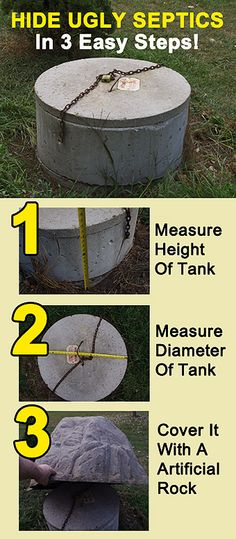 hide that ugly septic tank fast and easy here are 3 quick photo steps detailing how to make those ugly concrete and green plastic septic risers vanish from - Garden Ideas To Hide Septic Tank