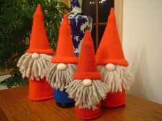 gnome- oh yes!! hhmm...didn't know they were knitted. I'm sure I can use another media. They are too cute NOT to do.