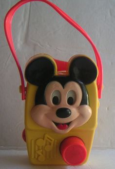 Vintage Mickey Mouse Wind Up Music Radio, Walt Disney Productions, Plays Small World, Disneyana. from QVintage, $30.00