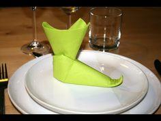 Origami - Serviette botte de lutin - Pixie Boots [Senbazuru] - YouTube