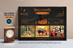 Halloween Mini Session Template V01 by retrographix on @creativemarket Halloween Mini Session, Photography Mini Sessions, Print Release, Photography Marketing, Digital Image, Professional Photographer, Templates, Stencils, Western Food