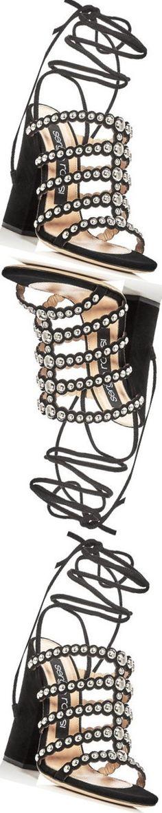 Bloomingdales- Sergio Rossi Elettra Studed Ankle Tie Sandal