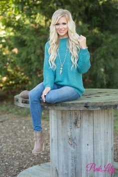 Get ready to dive into comfort when you put on this adorable sweater!