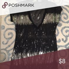 Black and silver top Sequins top INC International Concepts Tops Blouses