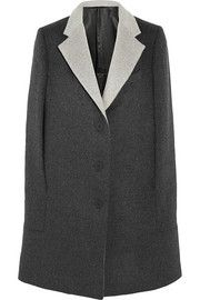 Gray matters. Richard Nicoll Brushed wool and angora-blend cape