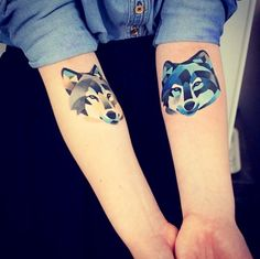 Geometric animal tattoos are a great way to put a new, creative spin on the common animal tattoo. Here are 25 of our favorite geometric animal tattoo designs. Wolf Tattoos, Animal Tattoos, Tatoos, Horse Tattoos, Celtic Tattoos, Forearm Tattoos, Sleeve Tattoos, Wolf Tattoo Design, Tattoo Designs